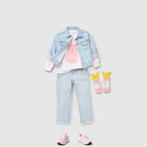 Distressed Jean  BABY BLUE WASH  hi-res