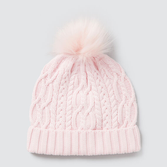 Cable Knit Beanie  ICE PINK  hi-res