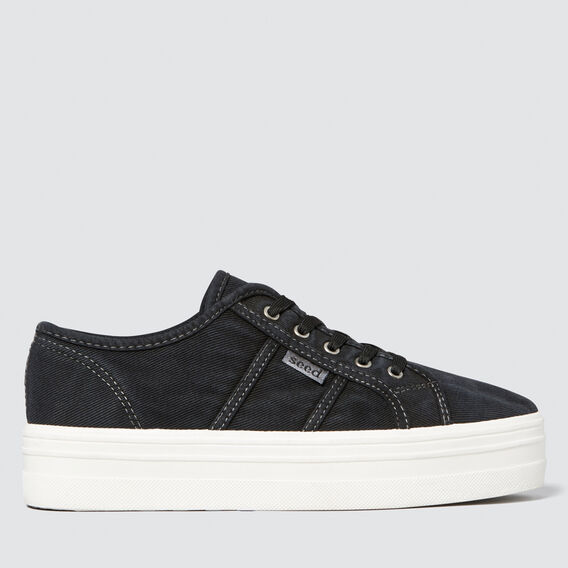 Billie Flatform Sneaker  BLACK  hi-res