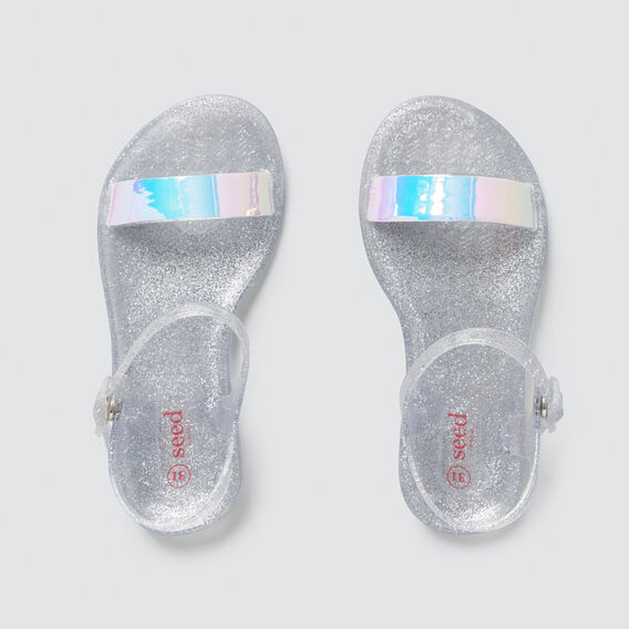 Single Strap Jelly Sandal  IRIDESCENT  hi-res