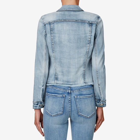 Frayed-Hem Denim Jacket  MULTI  hi-res