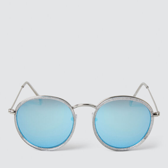Framed Round Sunglasses  SILVER  hi-res