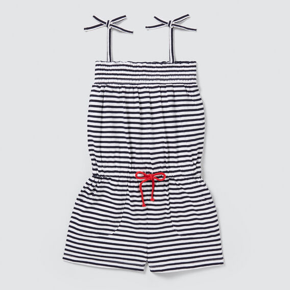 Stripe Jersey Playsuit  NAVY/WHITE  hi-res