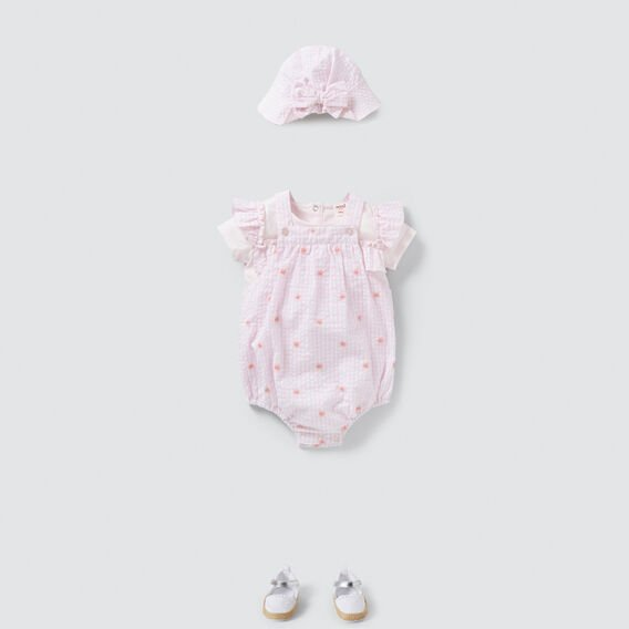 Gingham Romper  ICE PINK  hi-res