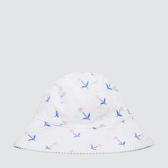 Dobby Flower Sun Hat  MULTI  hi-res