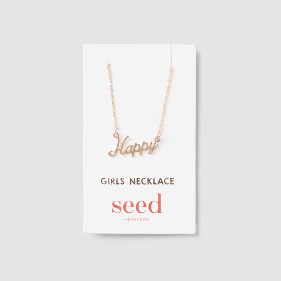 Happy Necklace  ROSE GOLD  hi-res