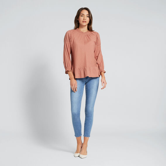 Pretty Gathered Blouse  TERRACOTTA  hi-res