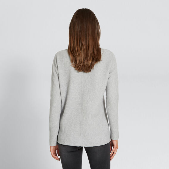 Textured Splice Top  MID GREY MARLE  hi-res