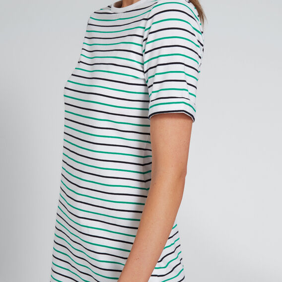 Easy Rolled Cuff Dress  MULTI STRIPE  hi-res