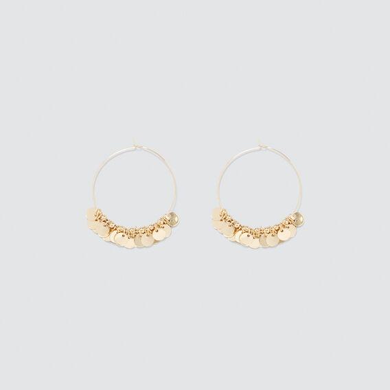 Disc Hoop Earrings  GOLD  hi-res