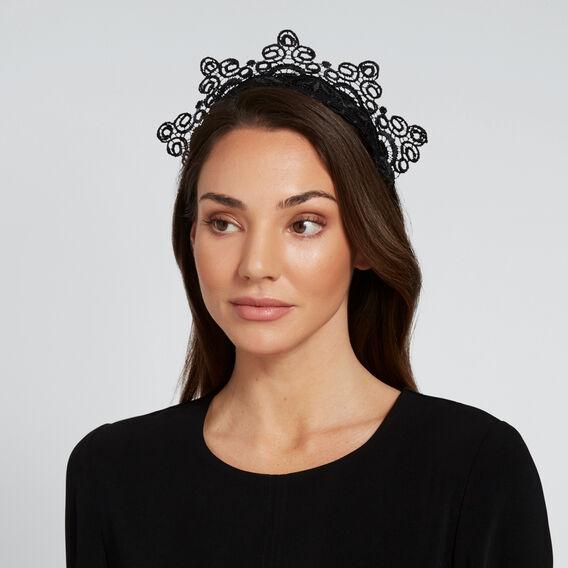 Lace Crown  BLACK  hi-res