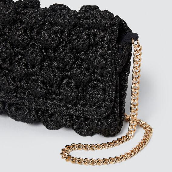 Emily Crochet Sling  BLACK  hi-res