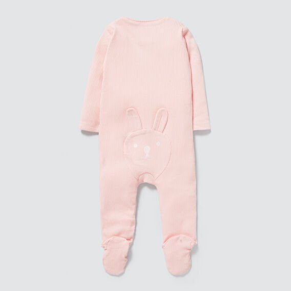 Rib Zipsuit- Available in 00000  PRETTY PINK  hi-res