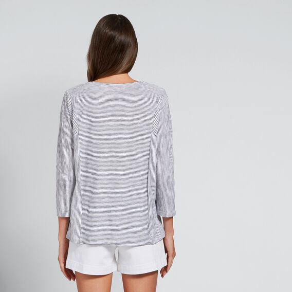Relaxed Stripe Top  BLACK/WHITE STRIPE  hi-res