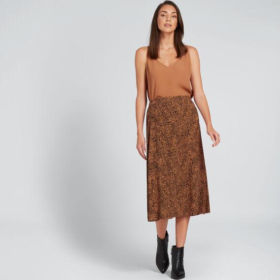 Cross Over Ocelot Skirt  ANIMAL PRINT  hi-res