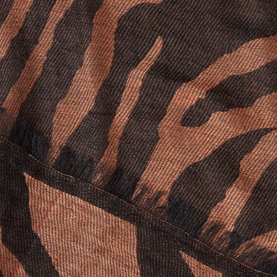 Tiger Sripe Scarf  VINTAGE BRONZE/BLACK  hi-res