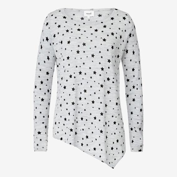 Asymmetrical Sweater  MID GREY MARLE  hi-res