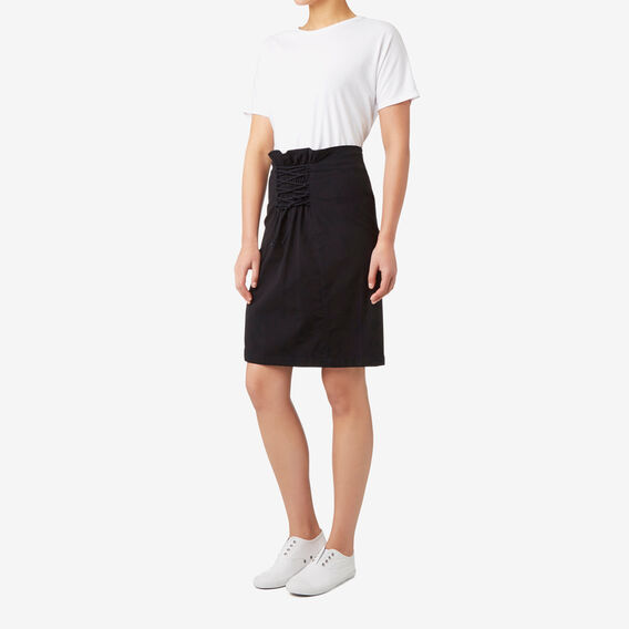 Lace Up Skirt  BLACK  hi-res