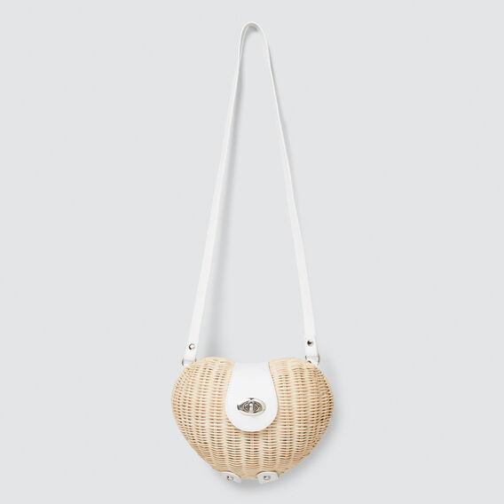 Wicker Heart Bag  NATURAL  hi-res