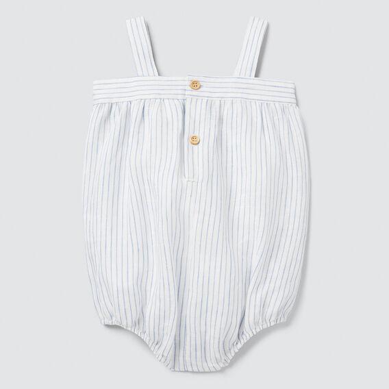 Woven Stripe Onesie  CANVAS  hi-res