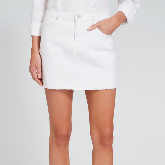 Denim Mini Skirt  WHITE  hi-res