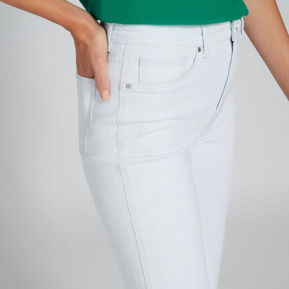 Curved Side Split Jean  ICE BLUE WASH  hi-res
