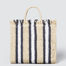 Stripe Straw Tote  NATURAL MULTI  hi-res