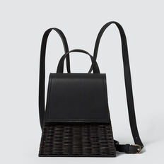 Wicker Backpack  BLACK  hi-res