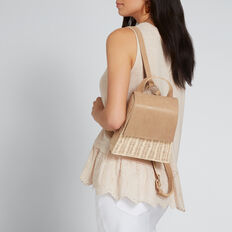 Wicker Backpack  NATURAL/ TAN  hi-res