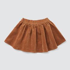 Flared Cord Skirt  DARK BISCUIT  hi-res