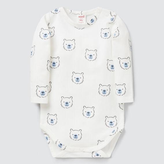 Bear Yardage Bodysuit  CANVAS  hi-res