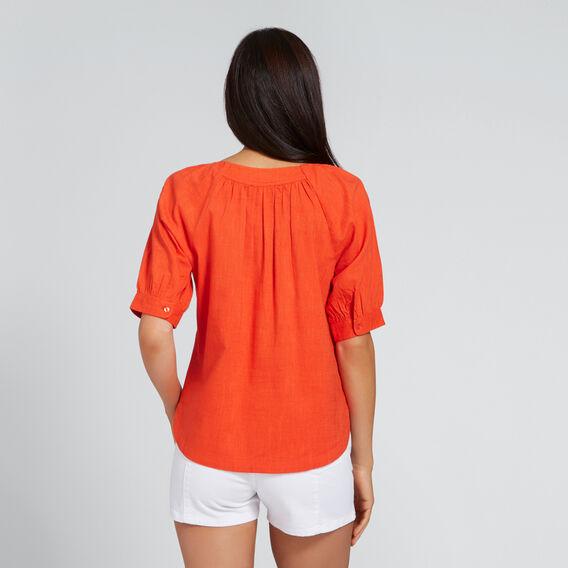 Blouson Sleeve Top  SPANISH RED  hi-res