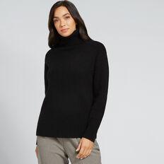 Cashmere Roll Neck Knit  BLACK  hi-res