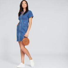 Mini Zip Through Dress  DEEP SEA DENIM  hi-res
