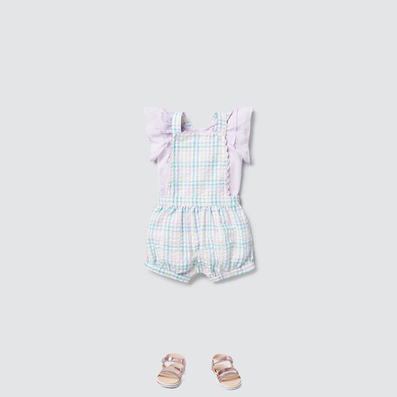 Rainbow Gingham Dungaree  MULTI  hi-res