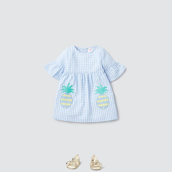 Pineapple Pocket Dress  CORNFLOWER  hi-res