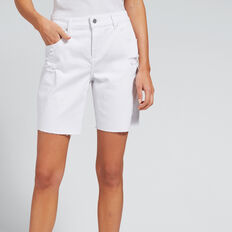 Bermuda Denim Short  WHITE  hi-res