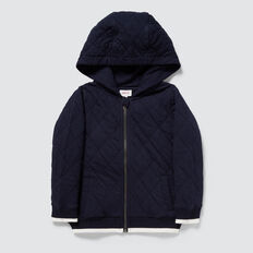 Quilted Hoodie  MIDNIGHT BLUE  hi-res