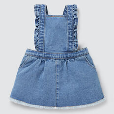 Denim Pinafore  VINTAGE BLUE WASH  hi-res
