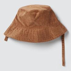 Corduroy Bucket Hat  DARK BISCUIT  hi-res
