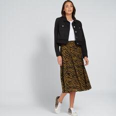 Cropped Denim Jacket  WASHED BLACK  hi-res