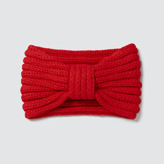 Knitted Turban  RED  hi-res