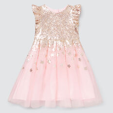 Sequin Star Dress  ICE PINK  hi-res
