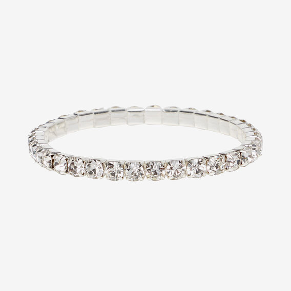 Diamante Stretch Bracelet  CLEAR  hi-res