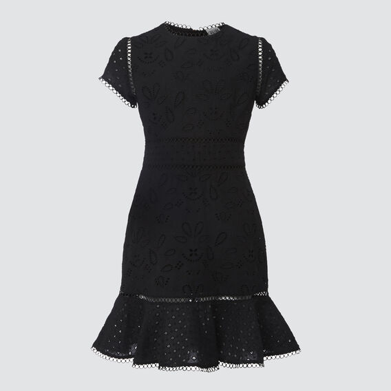 Broderie Dress  BLACK  hi-res