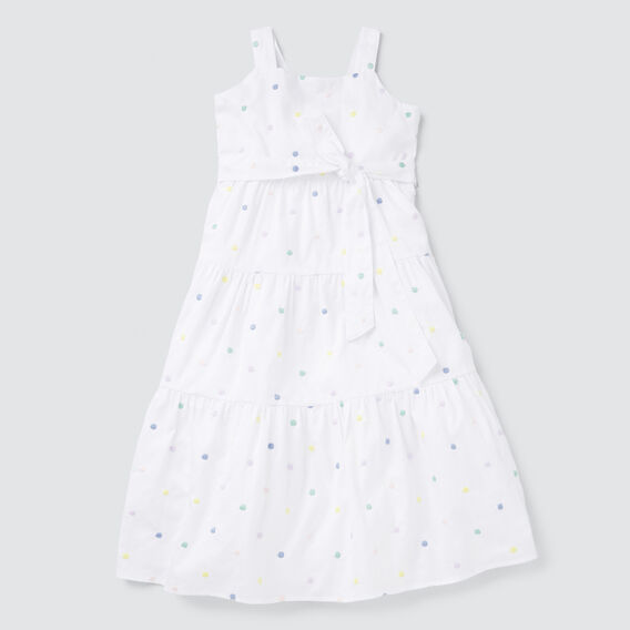 Spot Midi Dress  WHITE  hi-res