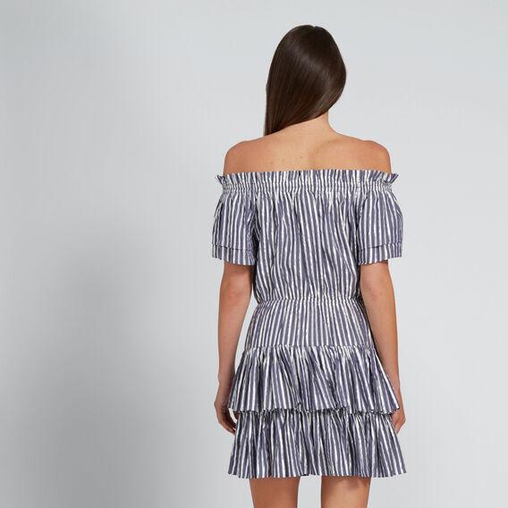 Striped Metallic Dress  METALLIC STRIPE  hi-res
