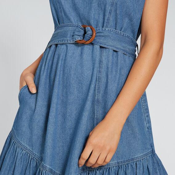 Tie-Up Chambray Dress  CLASSIC DENIM  hi-res