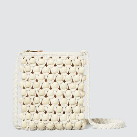 Crochet Beaded Sling  CREAM  hi-res