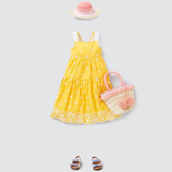 Broderie Midi Dress  BUTTERCUP  hi-res